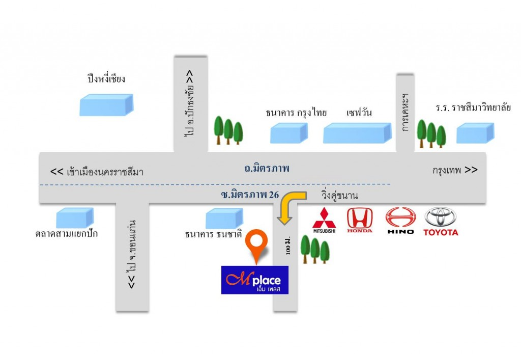 แผนที่ Mplace